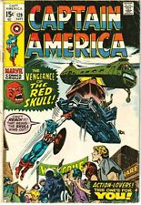 Captain America #129 GD/VG 1970 Red Skull Appearance!