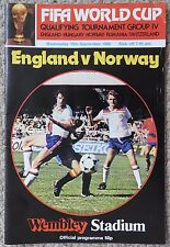 ENGLAND v NORWAY - WORLD CUP QUALIFYING MATCH, 10.9.80 - FOOTBALL PROGRAMME