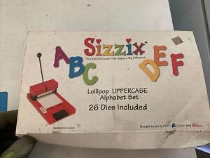 Sizzix Lollipop UPPERCASE Alphabet Set 38-1000 26 Dies  A-Z In Box