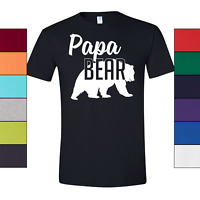 Papa Bear T-Shirt Mens High Quality Tee Shirt For Father Day Dad to Be S-3XL
