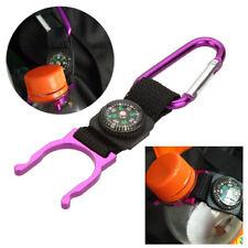 Compass Hiking Aluminium Water Bottle Buckle Hook Holder Clip Key Kompass Hike