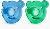 Philips Avent Soothie Bear Shape Pacifiers 0-3 months 2-Pack Blue/Green BPA-Free