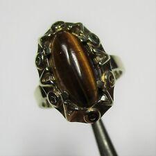 Klassischer Ring aus Gelbgold 333 mit Tigerauge - 1615-2691/4