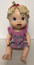 Baby Alive Hasbro 2009 All Gone Interactive Talking Eating Blonde Doll Toy
