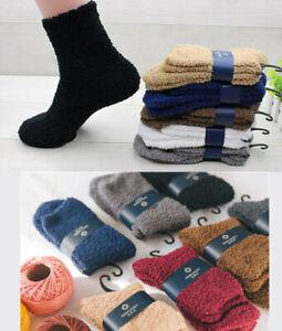 Men's Soft Winter Warm Fluffy Fleece Socks Lounge/Bed Socks Gift