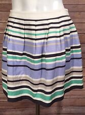 Forever 21 Striped Skirt Pleated Side Zipper Size Small