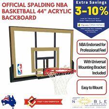 "Official Spalding NBA Basketball 44"" Acrylic Backboard Bracket Hoop Ring Combo"