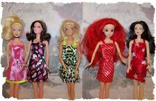 Lot De 5 Robes Pour Poupée Mannequin.Barbie Ariel Aurore Vêtements  De Ville L2
