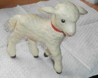 Wonderful Vintage Christmas W. Goebel Rubber Lamb Sheep Toy