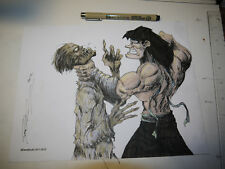 DAVID THERRIEN from DaveStudio ORIGINAL ART Drawing Martin le NINJA and a Zombie