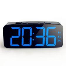Electric Led Alarm Clock Dual Alarm Bedroom Silent Snooze Digital Table Clock