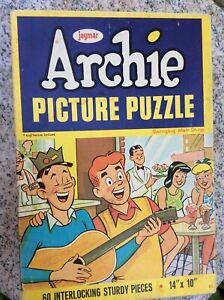 Jaymar Archie Jughead Vintage Inlaid Jigsaw Puzzle Swinging Malt Shop 60 Pcs NY