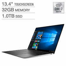 "DELL XPS 13 9300 13.4"" UHD+ Touch 10th Gen i7-1065G7 32GB 1TB SSD W10 Pro Silver"