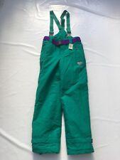 """Vintage 80's Green Ski Trousers  SZ Waist 28"""" #103 - Ideal Fancy Dress 🎉"""