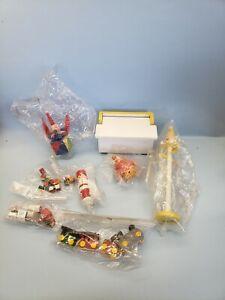 Dollhouse Miniature Nursery Wooden Toy Accessory Lot Handpainted train toy box