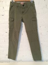 Juicy Couture Skinny Cropped Cotton Cargo Pants Army Green size 2