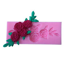 3D Rose Flower Silicone Fondant Mold Cake Decoration Tool DIY Chocolate Mould