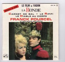 EP 45 TOURS FRANCK POURCEL BO LE FILM DE VADIM LA RONDE EGF 748 en 1964