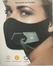 Wearable Air Purifier Face Mask with Filters and Rechargeable Battery - one size