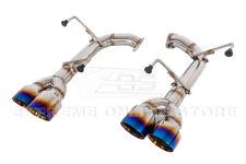 For 15-Up Subaru Wrx Sti Muffler Delete Axle Back 4 Inch Quad Burnt Tips Exhaust