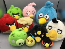ANGRY BIRDS Plush Lot 9: 2 Sound ~ Stella, Pig, Red Black White Green Polka Dot