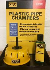Pipe Chamfering Tool for 110mm Plastic Soil & Vent Pipes with lubricant