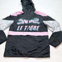 Men's Le Tigre 100% Authentic Windbreaker Size Medium Color Black