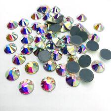 144 un. 10mm Hot Fix Pedrería Dorso Plano Cristales Piedras para la decoración de la ropa