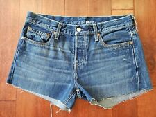 RARE Selvage Levi's 501 XX for DKNY Size 31 USA Made Leather Patch Jean Shorts