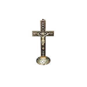 Jesus On Cross On Metal Base