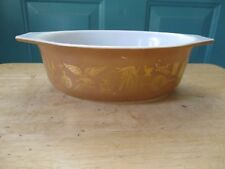 Retro Pyrex Glass Early American Pattern Cinderella 1 1/2-Qt Casserole Dish