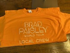 Brad Paisley 2019 World Tour Local Crew Shirt Xl Never Worn Orange
