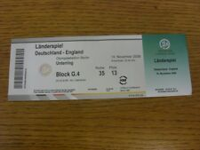 19/11/2008 Ticket: Germany v England [In Berlin] (folded, complete). Bobfrankand