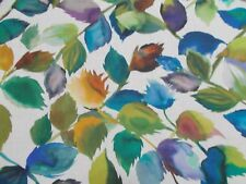 Designers Guild Curtain Fabric 'MARUKO' 1.1 METRES (110cm) TEAL Linen Blend