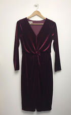 Hobbs Velvet Emilia Dress UK 10