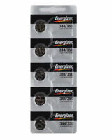 5 NEW Energizer 344/350 SR1136SW Silver Oxide Watch Batteries 1.55V-