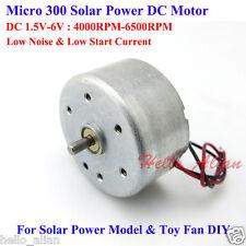DC 1.5V-6V 3V 6V Micro 300 Motor Solar redondo pequeño Micro Motor Para Ventilador reproductor de CD
