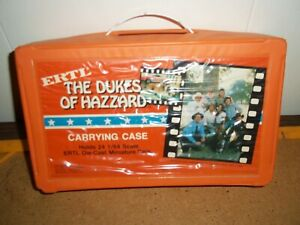 Vintage Dukes of Hazzard Ertl 1/64 Diecast Car Carrying Case with 2 Trays 1981
