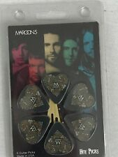 Maroon 5 Officially Licensed Guitar Picks 6 Pack Collectible Hot Picks