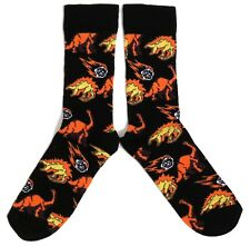 MENS EXTINCT DINOSAUR METEOR BLACK SOCKS UK SIZE 6-11 / EUR 39-46/ USA 7-12