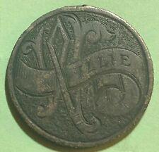 "Victoria Silver Quarter/Love Token ~ Minted 1870 - 1901 ~ Engraved ""Willie"""