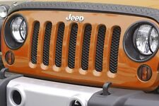 Black Mesh Grille Insert  2007 - 2017 Jeep Wrangler by Rugged Ridge SHIPS FREE!