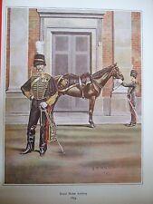 MILITARY PRINT-FIELD OFFICER &TRUMPETER ROYAL HORSE ARTILLy 1855- R J MACDONALD