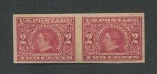 1909 US Stamp #371 2c Mint Never Hinged Very Fine Original Gum Imperf Pair
