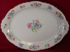 ABERDEEN china ABE3 pattern OVAL MEAT Serving PLATTER 16""