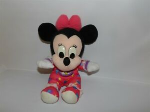 "HTF Vintage 12"" Mattel Disney Plush MINNIE MOUSE Baby Hearts Candy Bib (*32)"