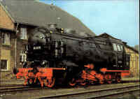 "Eisenbahn DDR Dampflokomotive Güterzug Tenderlok ""Mammut"" Verlag Bild und Heimat"
