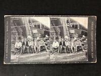 Stereo-View Stereoscopic: New Zealand Graphic #A198: Men No1 Shaft Waihi Mine