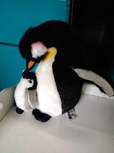 Plüsch Pinguin mit Baby ca 20 cm groß von Semo