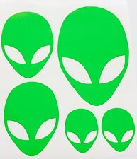 Set of 5 Alien Family Head Decals High quality   BUY 2 SETS GET 1 FREE